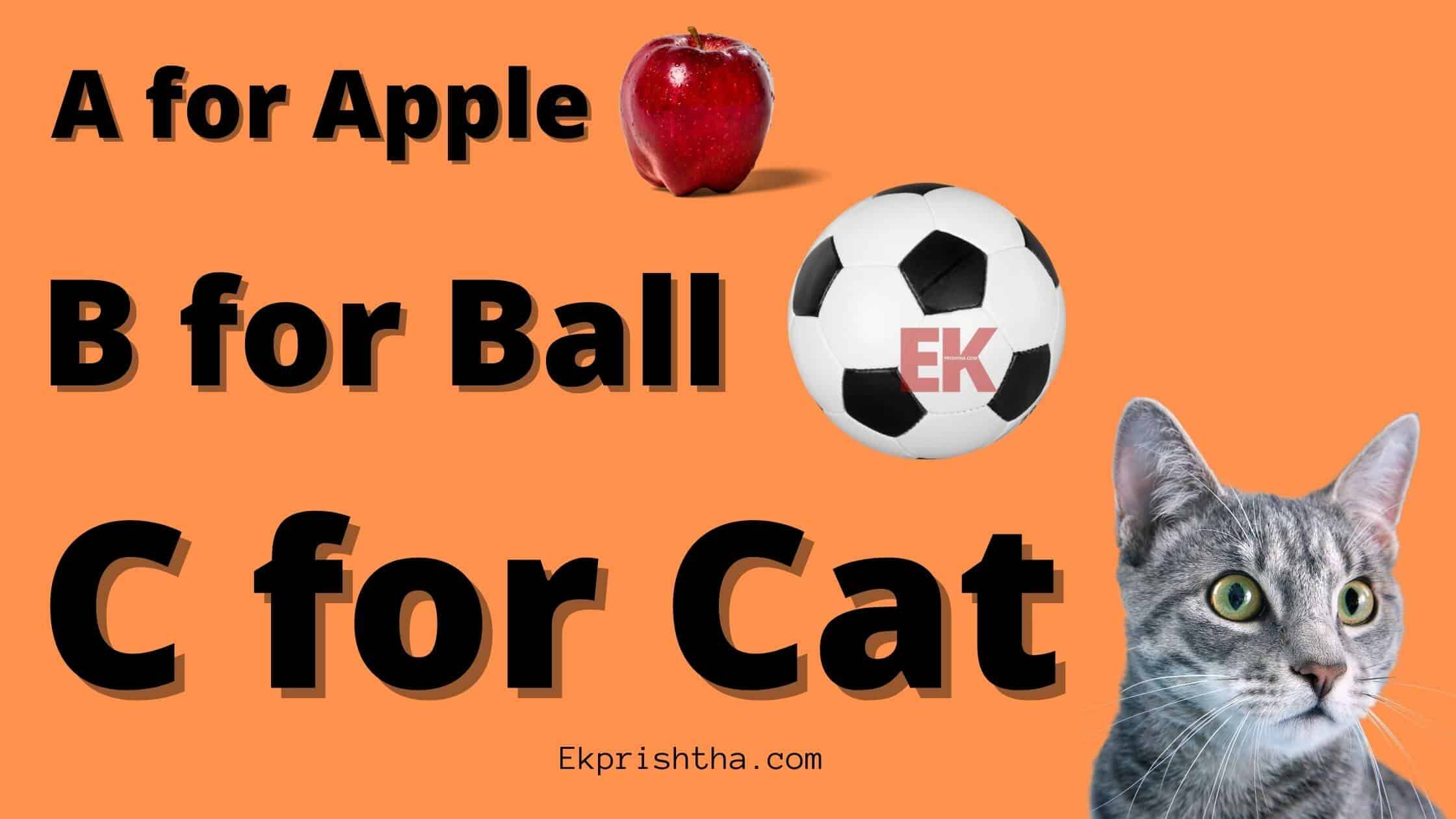 A For Apple B For Ball Chart