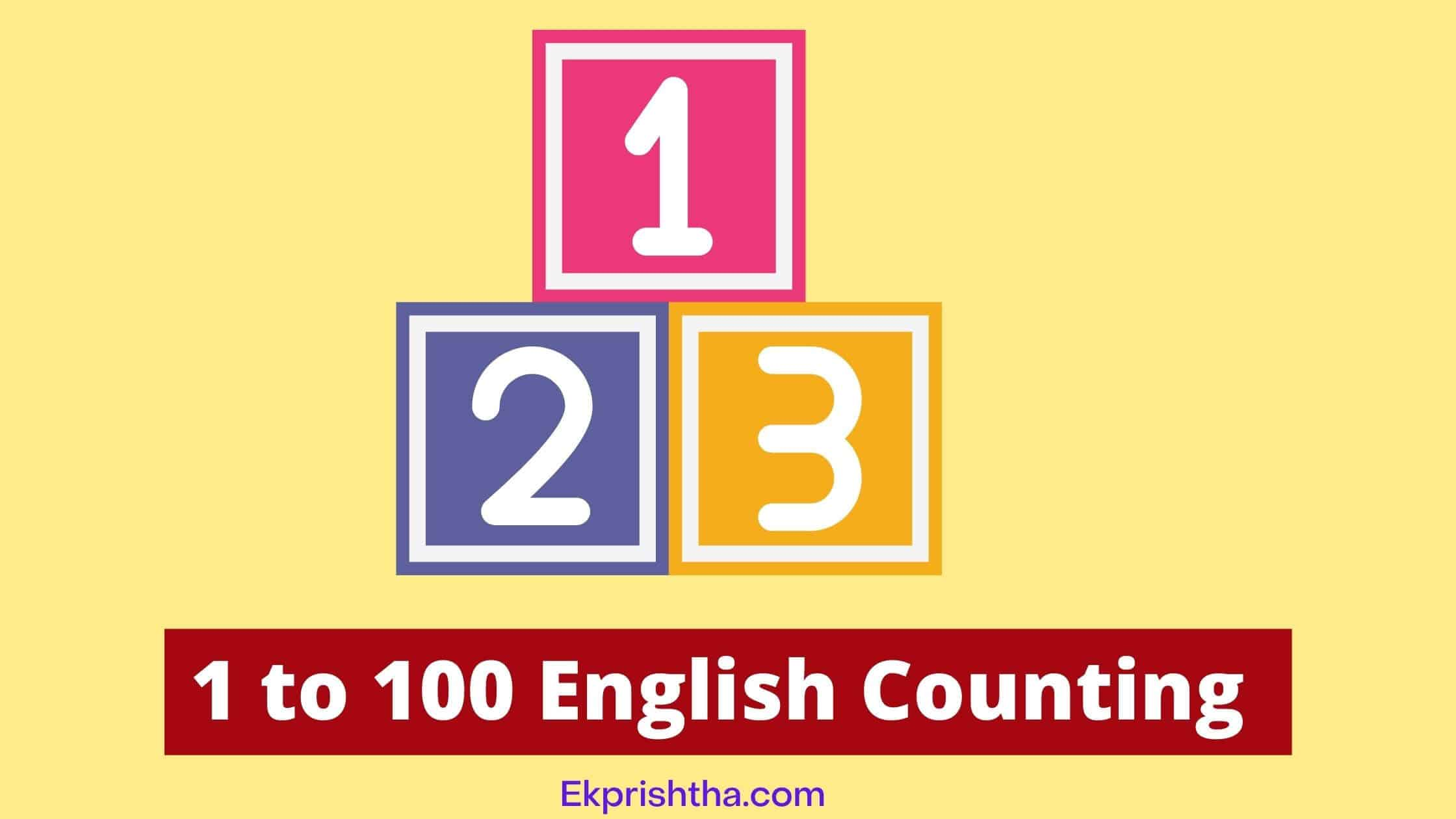 1 to 100 English Counting